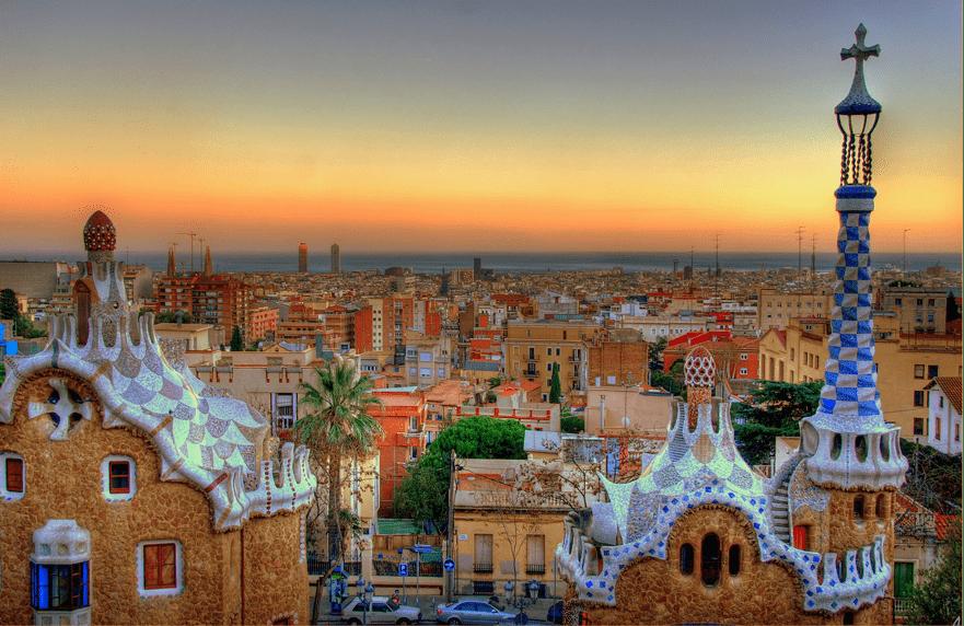 Vistas panorámicas de Barcelona